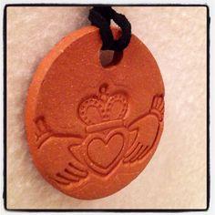 Handmade Claddagh Bisque Ceramic Aromatherapy / by CraftyleftDee