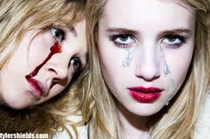 Emma Roberts & Juno Temple by Tyler Shields. via ohnotheydidnt