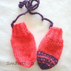 Marie, str 0-6 mnd Mittens, Fingerless Mitts, Gloves