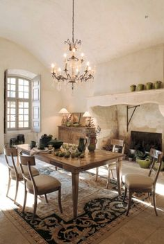 Love the oversized fireplace! We can make that mantel!