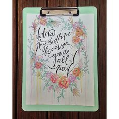 Stay With Me hand-lettered watercolor by TheCreativeTypes on Etsy