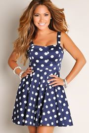 "Navy Blue Retro Glam A-Line Cocktail Dress - FREE $10 GIFT CARD to use an order - use CODE ""SWIM10"" at checkout!!  (expires"