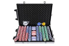 Riverboat Gaming Tournament Poker Chips - 1000 Piece Numbered Poker Set in Low Numbers Poker Chips Set, Poker Set, Poker Games, Numbers, Gaming, Toys, December, Products, Activity Toys