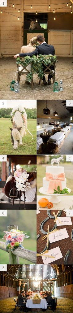 Wonderful equestrian wedding inspiration! For when Malerie gwts hitched someday