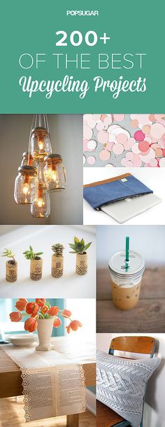 If you're the type of person who hates to throw anything away, then turn your unwanted items into gorgeous DIY projects. After all, one person's trash is another's treasure, right? Get inspired by these DIY ideas for ordinary household objects. Source by Diy Projects To Try, Craft Projects, Diy Upcycling Projects, Fun Crafts, Diy And Crafts, Diy Y Manualidades, Do It Yourself Inspiration, Ideias Diy, Diy Décoration