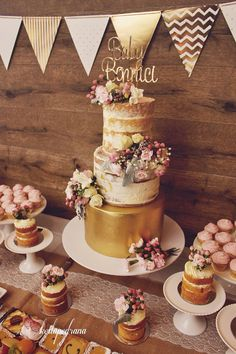 Image result for semi naked cake edible flowers