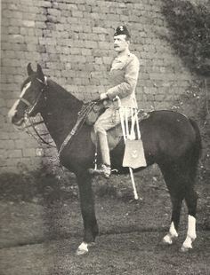 "Colonel Henry Hallam Parr, mounted on his horse ""The Rajah"", India, 1894"