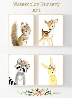 Lets make your little ones room warm and enjoyable! This print set is prints of my watercolor paintings. Printed on beautiful high quality, archival and acid free velvet fine art papers using professional Epson Ultra Chrome inks. Size: Available in 5 sizes! (5x7, 8x10,13x19,