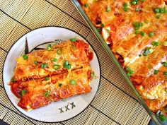 Chorizo and sweet potato enchiladas (I made these with a sweet bell pepper instead of the poblano to reduce the heat a bit. They were delicious and everyone loved them, even the kids. This has been added to our recipe box for future dinners.)
