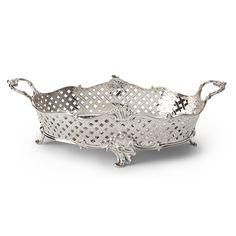 Zilveren broodmand Den Haag 18e eeuw