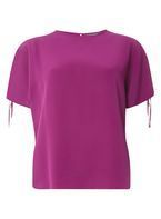 Womens **Tall Purple Cold Shoulder T-Shirt- Purple