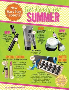 Mary Kay summer must haves! www.marykay.com/wgonzalezjr