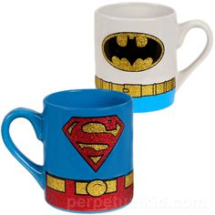 If only they weren't sparkly...BATMAN AND SUPERMAN MUG SET