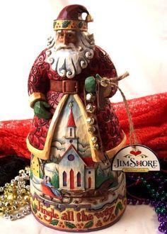 Jim Shore Santa With Jingle Bells - Bells On Bobtail Ring