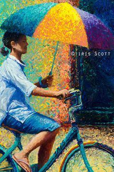 Beautiful Impressionistic Oil Finger Paintings by Iris Scott