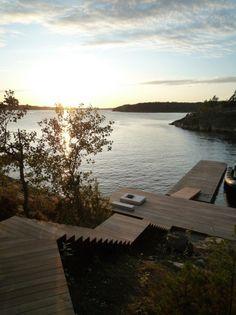 ferienvilla stockholm schweden treppen bucht boat