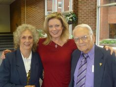 Fred and Carolyn Eichelman with actress Nancy Stafford