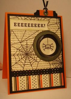 EEEK a Spider! Treat Cup Slider card by jkelliot - Cards and Paper Crafts at Splitcoaststampers