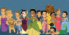 Disney men as princesses