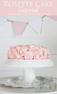 Rosette Cake Tutorial. It's not as hard as you think. Easy Beginner tutorial from a beginner