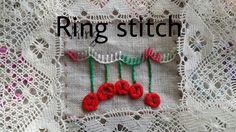 *자수클래식* Ring stitch (링스티치) 자수기법 독학으로 배우기