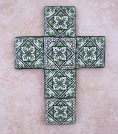 Polymer clay cross wall hanging by PolymerClayWorkshop, via Flickr