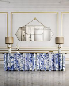 BOCA DO LOBO: Heritage sideboard turned into a Heritage console table for a bespoke project. Best Interior Design, Luxury Interior, Luxury Furniture, Interior Styling, Furniture Design, Console Table, Table Lamp, Living Room Designs, Living Room Decor