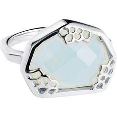 Neola Sterling Silver Aqua Stone Ring