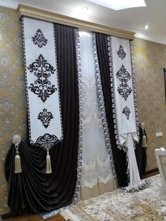 Design is such a creative endeavour that it's no wonder new and great ideas pop up each and every day. Luxury Curtains, Home Curtains, Modern Curtains, Room Darkening Curtains, Window Curtains, Curtain Styles, Curtain Ideas, Curtain Designs For Bedroom, Rideaux Design