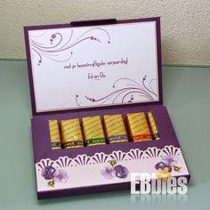 EBbieskaarten: ❥ Patroon Merci chocolade doosje