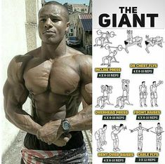 get giant by working chest and shoulders at once #bodybuilding #fitness #healthyeating #diet