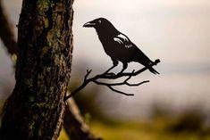 The Birds   Metalbird USA Group Of Crows, American Crow, Great Horned Owl, Bird Silhouette, Metal Birds, Bird Sculpture, Banksy, Large Art, Wood Design