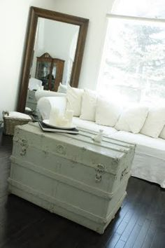 love the trunk as a coffee table..we've got one and we are doing this:)