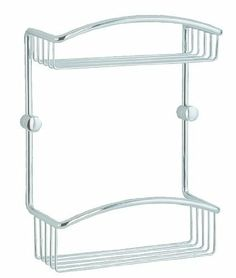 """Smedbo Cabin Double Soap Basket Bathroom Shelf by Smedbo. $134.40. Ample room for soap. Maximum functionality. Durable solid brass foundation. Color: Polished Chrome. Size: 11""""H x 8""""W x 4""""D. Finish:Polished Chrome Smedbo: Step into your own oasis.The Cabin Line from Swedens Smedbo celebrates simplicity and helps create an atmosphere of utmost relaxation.Crafted from 100% solid brass. Polished and lacquered with a high transparent epoxy for a flawless finish. Limited lifetime..."""