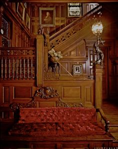 Grand Staircase at Wilderstein Historic Site.