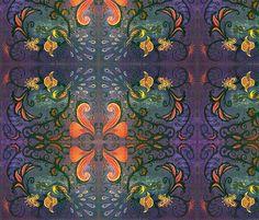 marzlene_golden_peacock  fabric by marzlene'z_eye_candy on Spoonflower - custom fabric