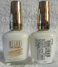 Milani High Speed Fast Dry Nail Polish White On The Spot #22 French Manicure #Milani