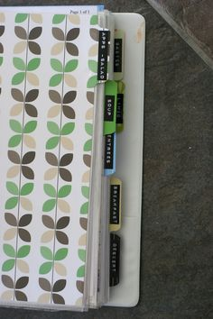 Binders for Recipes & Coupons - Get all those scribbled and printed recipes organized with a simple binder.