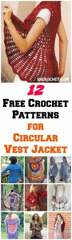 12-Free-Crochet-Patterns-for-Circular-Vest-Jacket.jpg (720×2400)