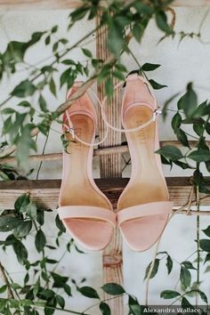 Wedding shoes ideas - pink, strap, open toes, heels, blush {Alexandra Wallace}