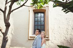 Portrait of the happy couple at their San Diego wedding by The Rasers | via junebugweddings.com