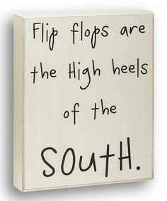 White 'High Heels of the South' Box Sign