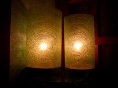 https://www.behance.net/cicciap _Twin lamps on Behance_ #lamp #handmade  #wood #recycling #lampada #faidate #fattaamano #riciclo #legno #lampadaspago #idee