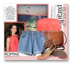 """""""Romwe-Denim Shorts"""" by samketina ❤ liked on Polyvore featuring St. John, Folio, LUCY IN DISGUISE, Tignanello and romwe"""