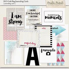 FREE 2015 Journaling Cards by Studio Natali