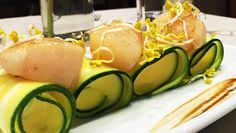 Jubilee hotel&lunch Capesante aromatizzate al timo e lime su carpaccio di zucchine