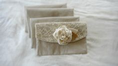 4 Bridesmaid Wedding Clutches Rustic Bridal Purse Lace Burlap Peony Flower Clutch Purses Rustic Country Wedding Bridesmaid Gift