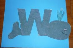 Mom to 2 Posh Lil Divas: ABC Fun: W is for Whale Spouting Water - Hands-on Learning & Crafts Alphabet Letter Crafts, Childrens Alphabet, Abc Crafts, Letter Art, Alphabet Book, Animal Alphabet, Kids Crafts, Letter W Activities, Preschool Letters