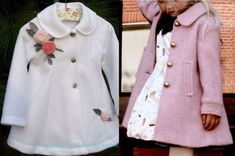 Paz Rodriguez Baby Girls Pink Pram Coat and BonnetThis Pin was discovered by Ümr Sewing Kids Clothes, Doll Clothes Patterns, Clothing Patterns, Sewing Dolls, Sewing Patterns, Baby Coat, Kids Fashion, Fashion Outfits, Beige Coat