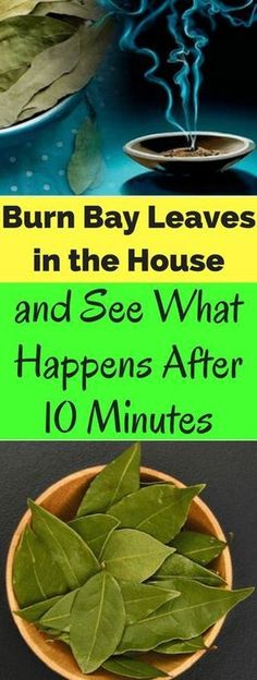 Burn bay leaves for mental clarity